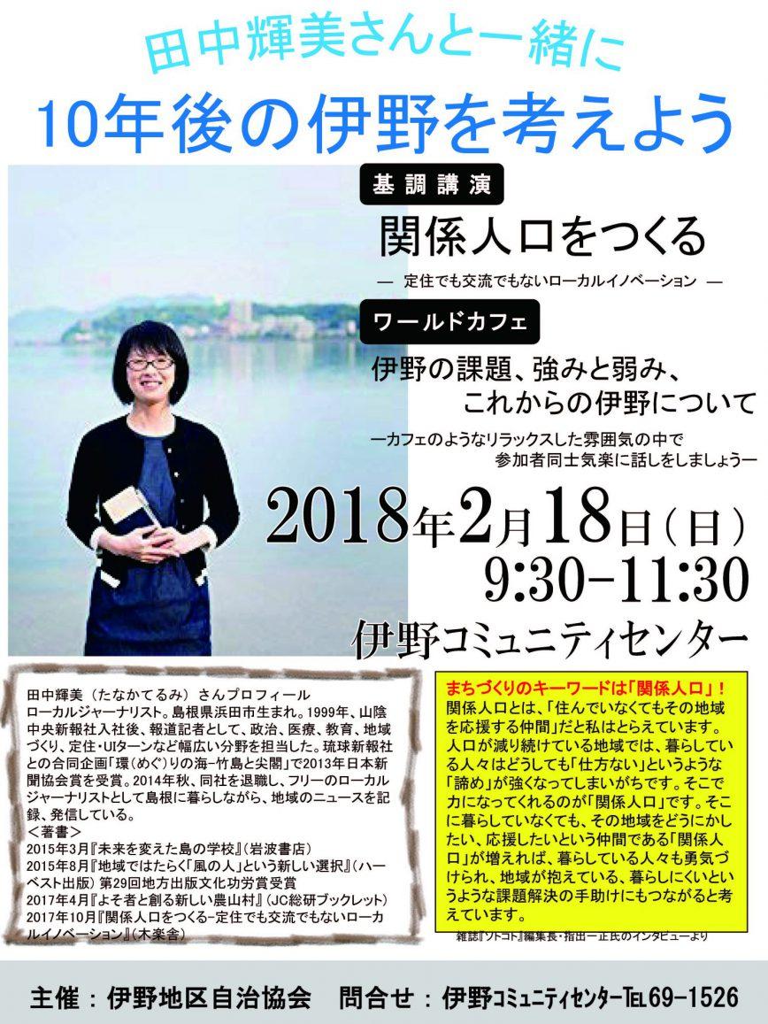田中輝美さん講演会